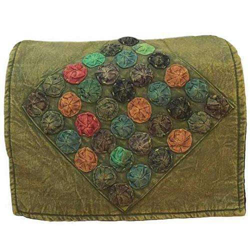Olive Colored Romantic Polkadot Messenger Bag