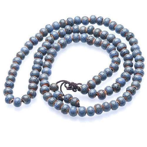 Buddhist Mala Prayer 108 Bead Meditation Necklace