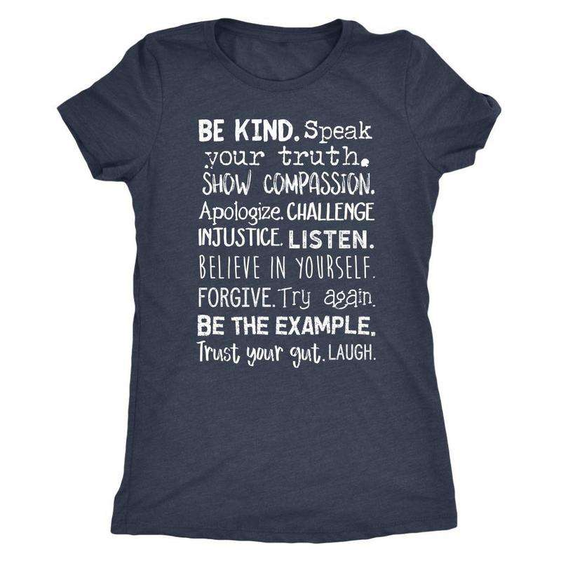 Women's Motivational Words to Live By T-shirt