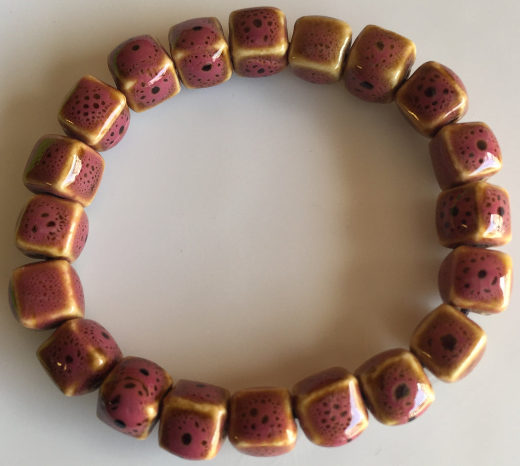 The Colorful  Rose Square Ceramic Bracelet