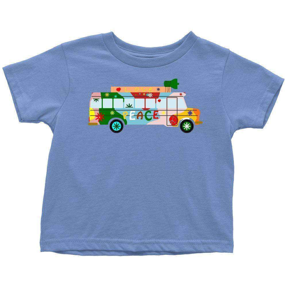 """Happy Hippie Bus"" Toddler Tee"