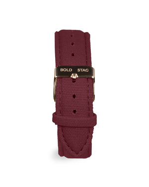 Rose Black - Bordeaux Canvas - BOLD STAG Uhr
