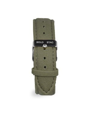 Canvas Strap - Olive - BOLD STAG Strap