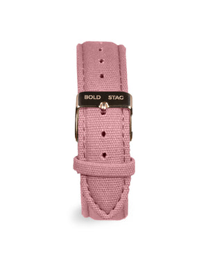 Canvas Strap - Pink - BOLD STAG Strap