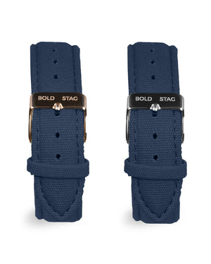 Canvas Strap - Blue - BOLD STAG Strap