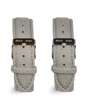 Canvas Strap - Grey - BOLD STAG Strap