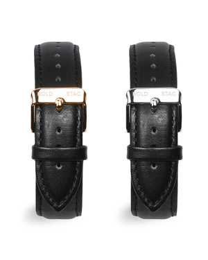 Leather Strap - Black - BOLD STAG Strap