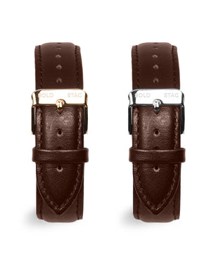 Leather Strap - Brown - BOLD STAG Strap