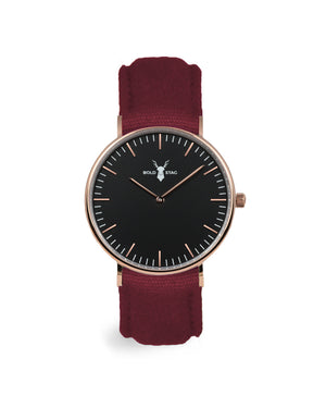 Rose Black - Bordeaux Canvas