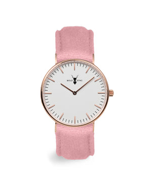 Rose White - Pink Canvas - BOLD STAG Uhr