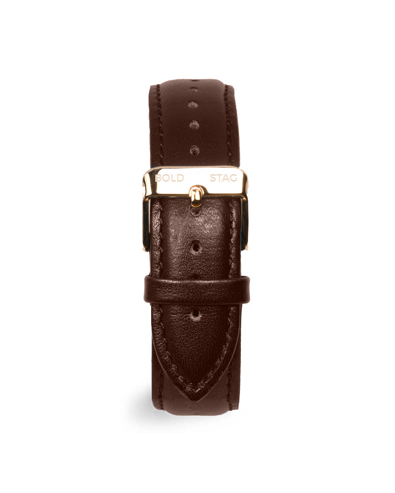 Rose Black - Brown Leather - BOLD STAG Uhr