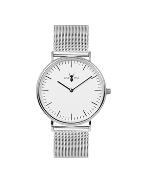 Silver White - Mesh - BOLD STAG Uhr