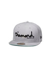 New Era OG Script Fitted - Grey