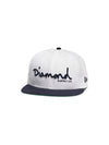 New Era OG Script Fitted - White/Navy