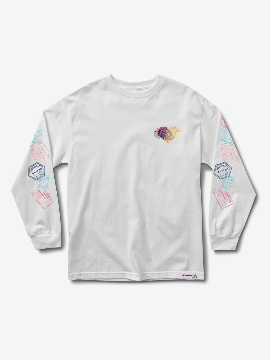 Trotter Passport Longsleeve - White