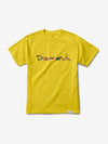 OG Script Fasten Tee - Yellow,  -  Diamond Supply Co.