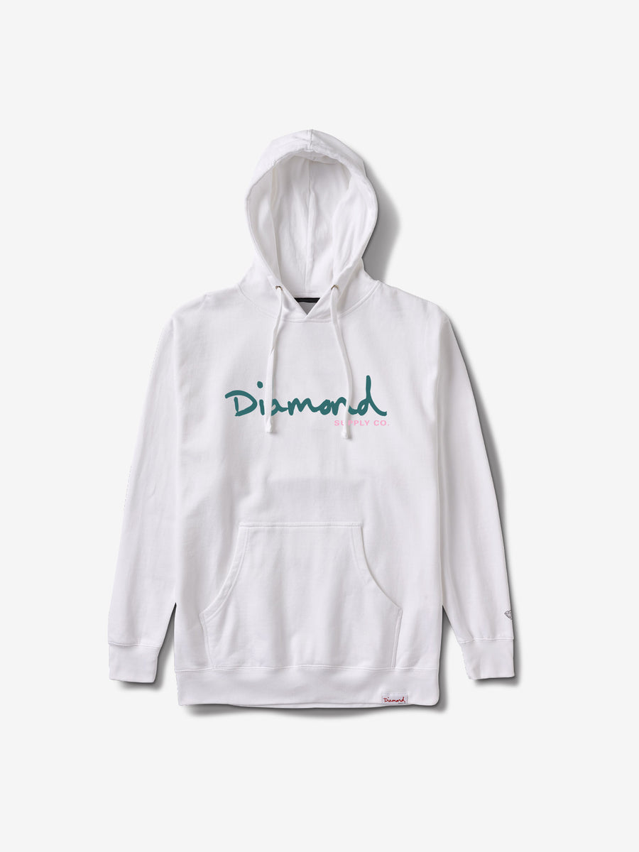 Gleam Sign Hoodie - White, Summer 2019 -  Diamond Supply Co.