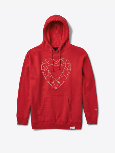 Valentine's Day Heart Cut Chainstitch Hoodie - Red, Spring 19 -  Diamond Supply Co.