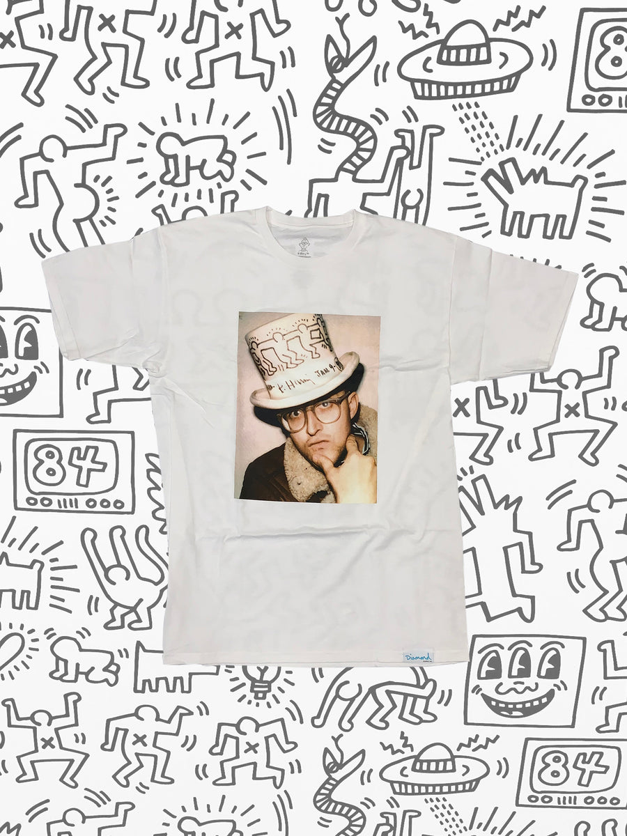 Diamond x Haring In A Hat Tee - White