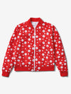 Smiley Reversible Bomber Jacket - White/Red