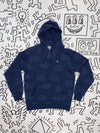 Diamond x Haring Skating Hoodie - Navy, Haring -  Diamond Supply Co.