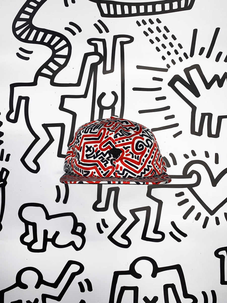 Diamond x Haring Print Snapback Hat, Haring -  Diamond Supply Co.