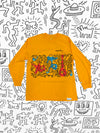 Diamond x Haring Rhythm and Motion Longsleeve - Yellow, Haring -  Diamond Supply Co.