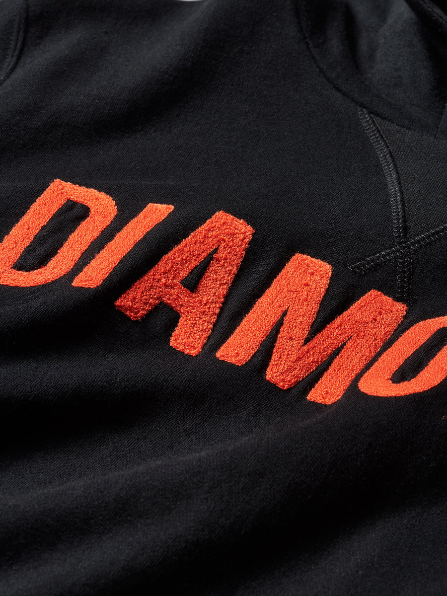 Diamond French Terry Team Hoodie - Black