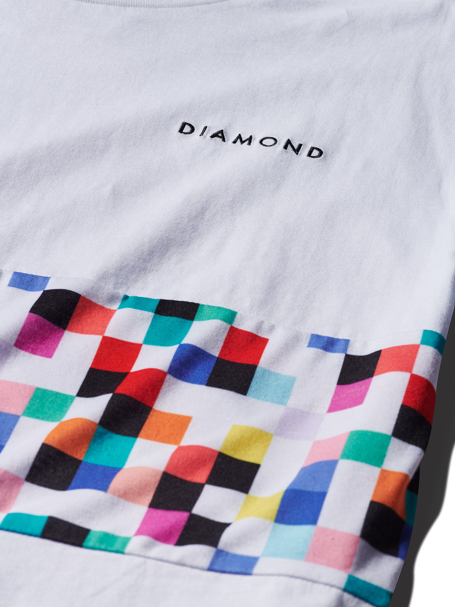 Pixel Panel Tee - White