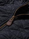Diamond Quilted Hoodie - Black