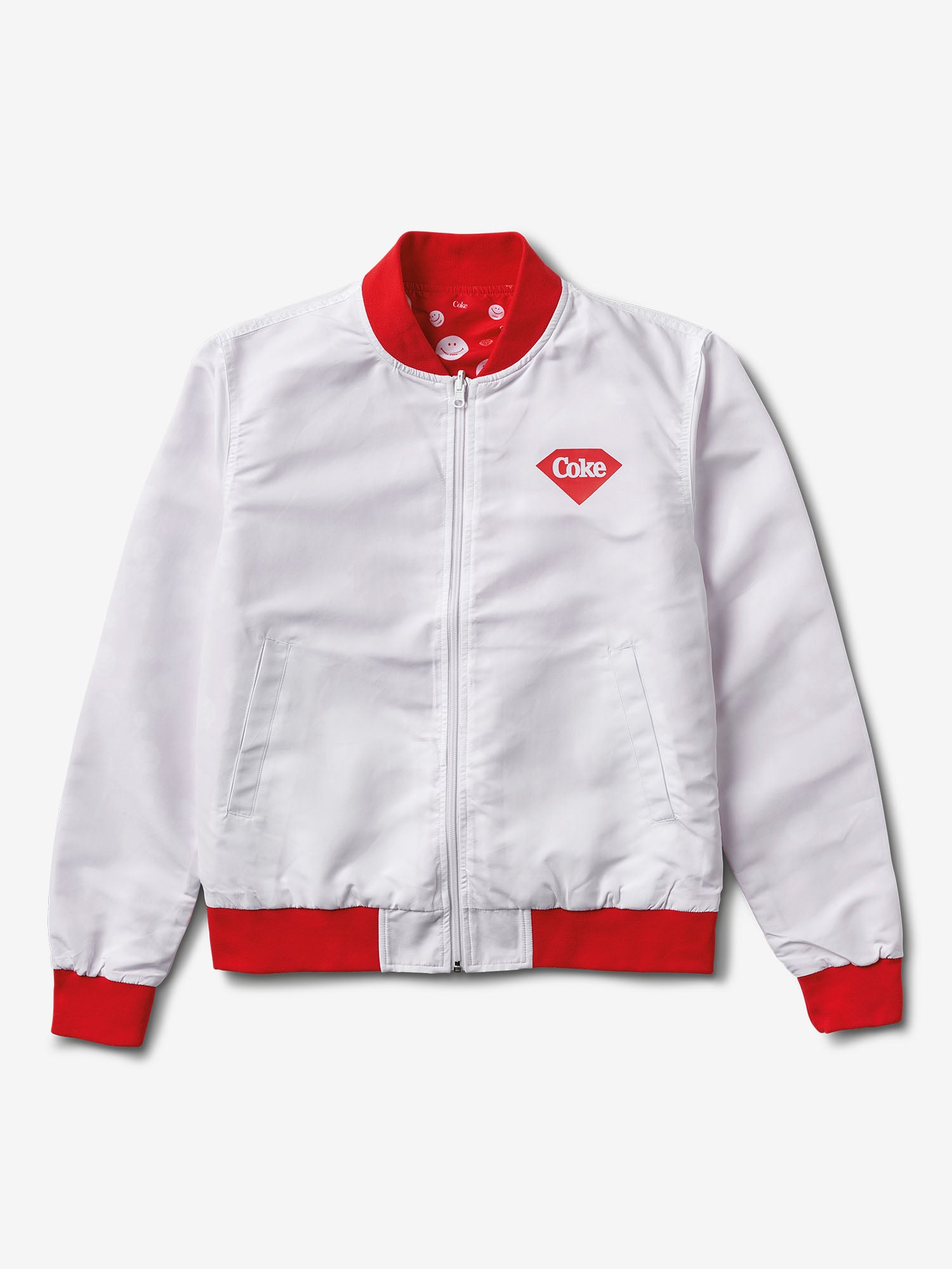 826c3a5ca Smiley Reversible Bomber Jacket - White/Red