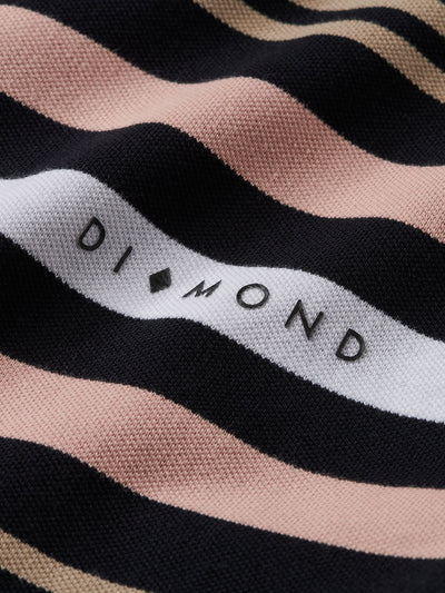 Marquise Striped Quarter Zip - Black, Spring 19 -  Diamond Supply Co.