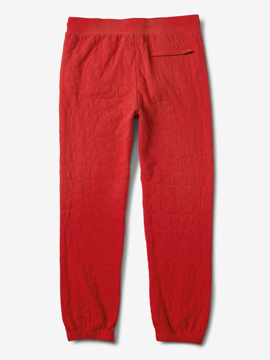 Diamond Quilted Sweatpants - Red