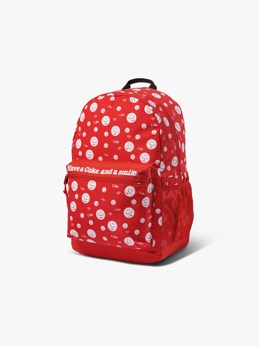 Diamond x Coca-Cola Smiley Backpack - Red
