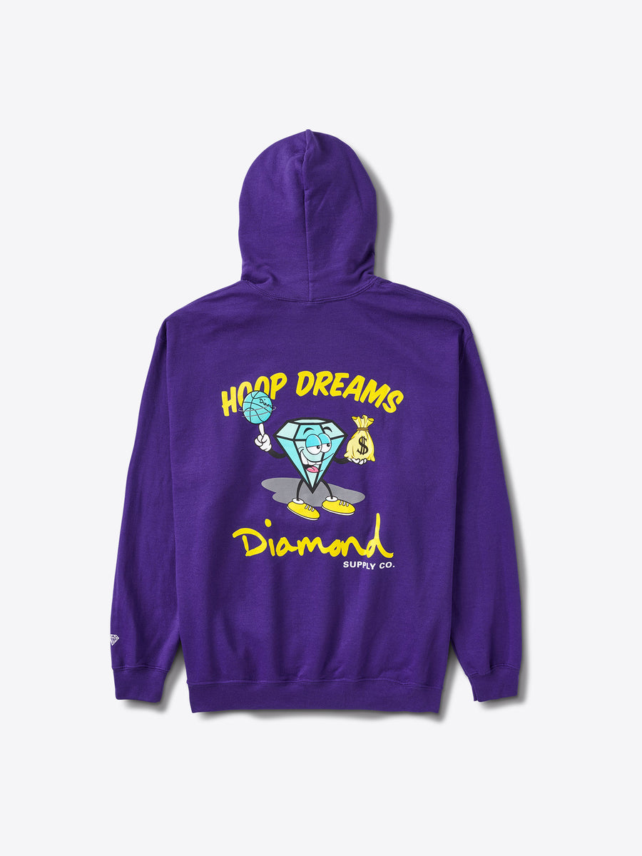 Hoop Dreams Cutty Hoodie - Purple
