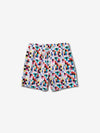 Pixel Panel Shorts - White