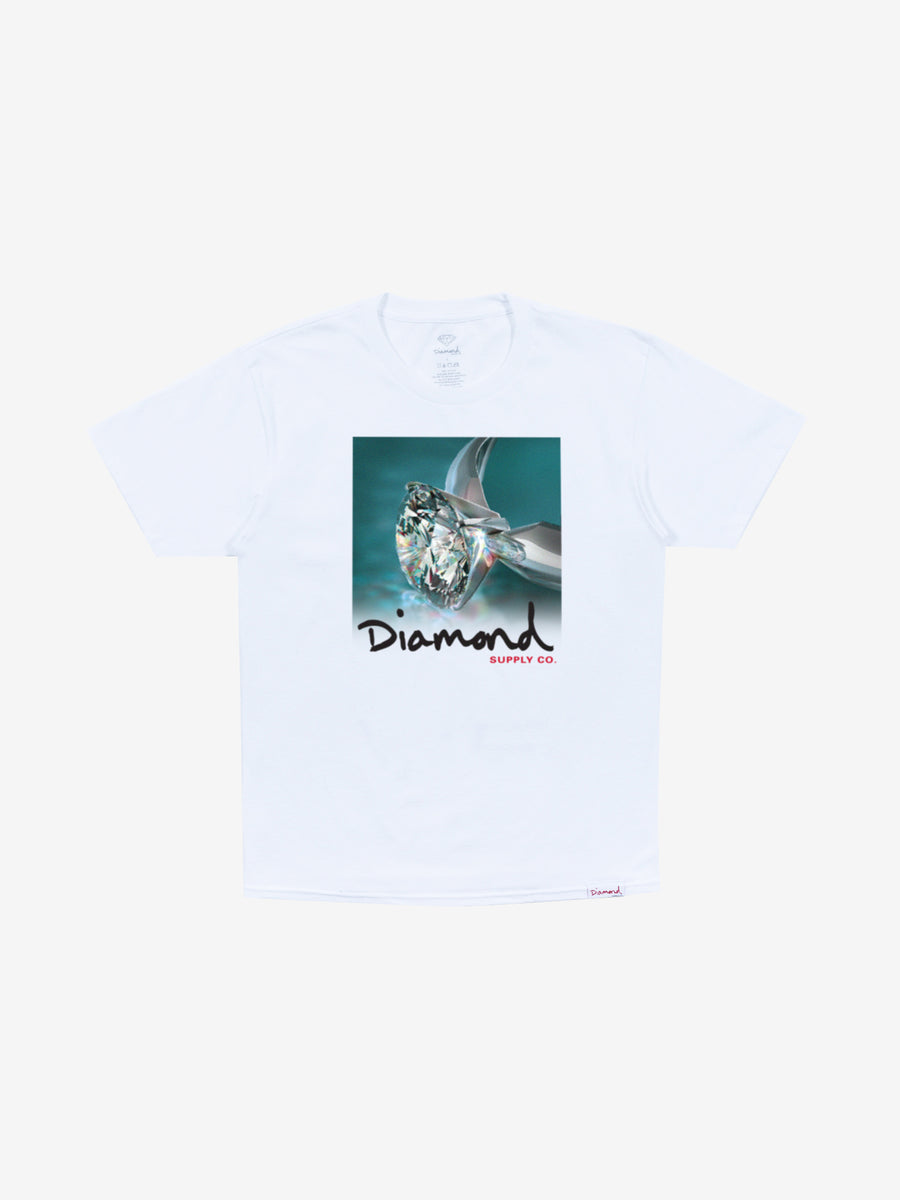 Shimmer Tee - White, Fall 2019 -  Diamond Supply Co.