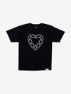 Heart Cut Tee - Black