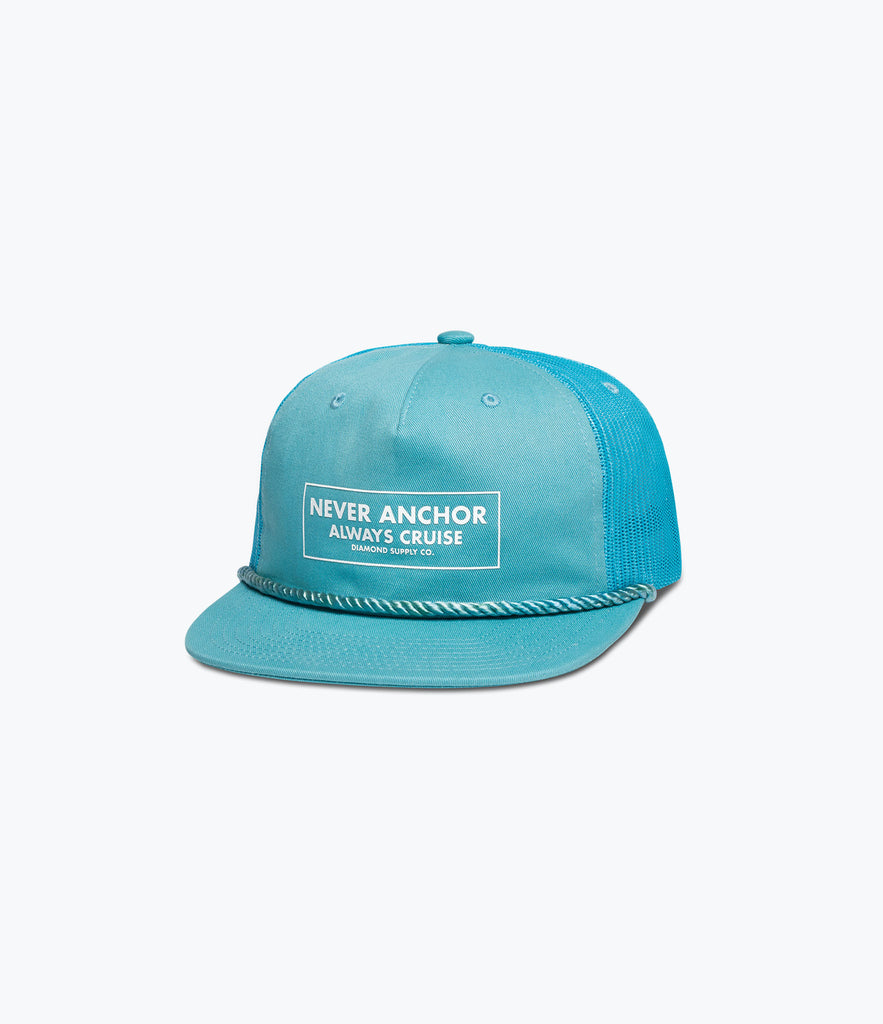 Never Anchor Trucker Hat, Summer 2017 Delivery 1 Headwear -  Diamond Supply Co.