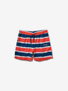 Mini OG Script Striped Shorts - Coral