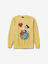 Diamond x Astroboy Heart Crewneck - Yellow