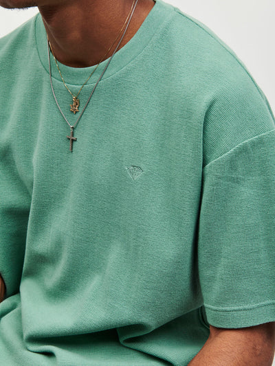 Brilliant Oversized Knit Tee - Green