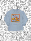 Diamond x Haring Howlin Wolf Longsleeve - Sky Blue, Haring -  Diamond Supply Co.