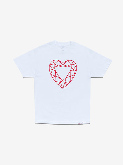 Heart Cut Tee - White