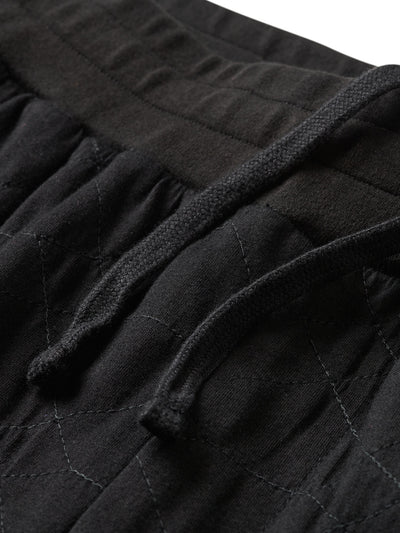 Diamond Quilted Sweatshorts - Black, Spring 19 -  Diamond Supply Co.