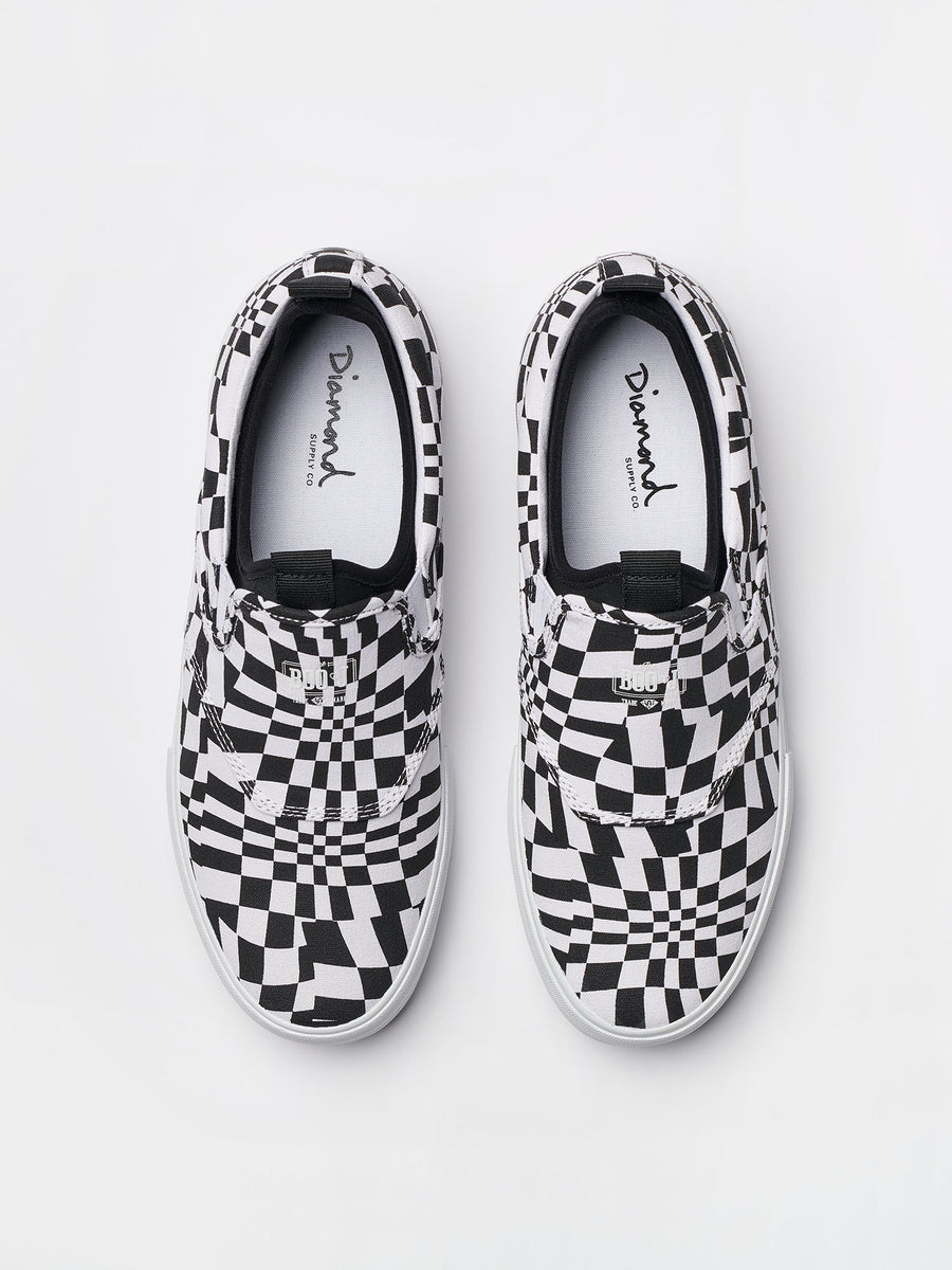 BOO J XL - Checkered Black, Holiday 2018 Footwear -  Diamond Supply Co.