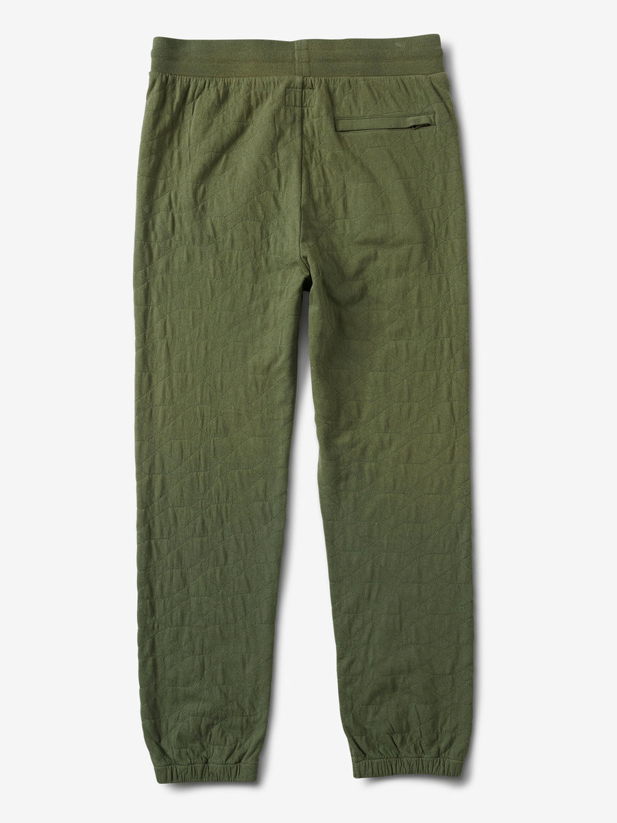 Diamond Quilted Sweatpants - Olive