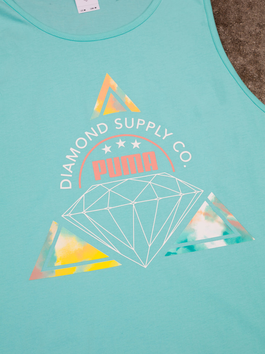 Diamond x Puma Tank - Aruba Blue