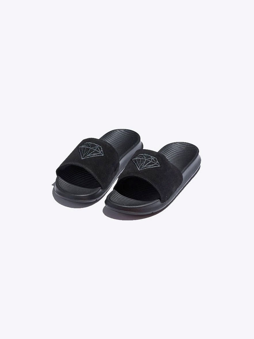 Diamond Fairfax Slide Suede - Black