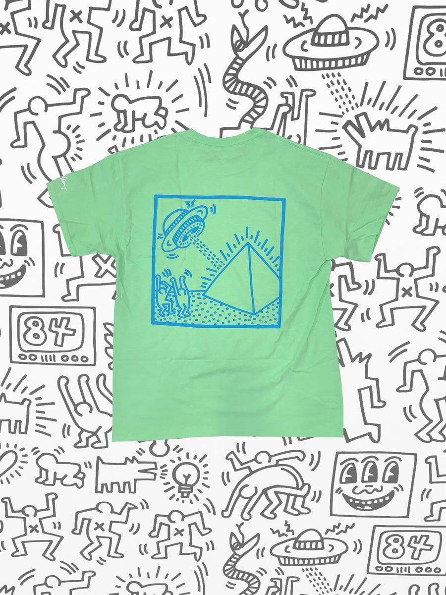 Diamond x Haring Spaceships Tee - Mint, Haring -  Diamond Supply Co.